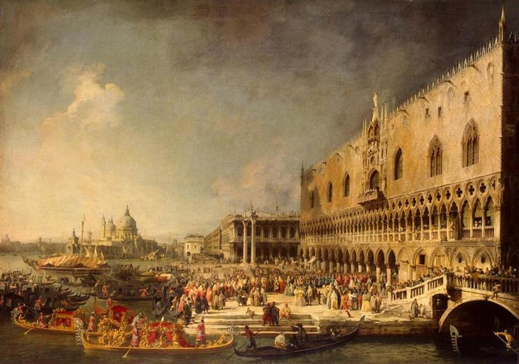 The Reception of the French Ambassador in Venice, c.1745 - Canaletto