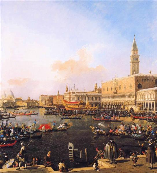 Venice, Bacino di San Marco on Ascension Day - Canaletto