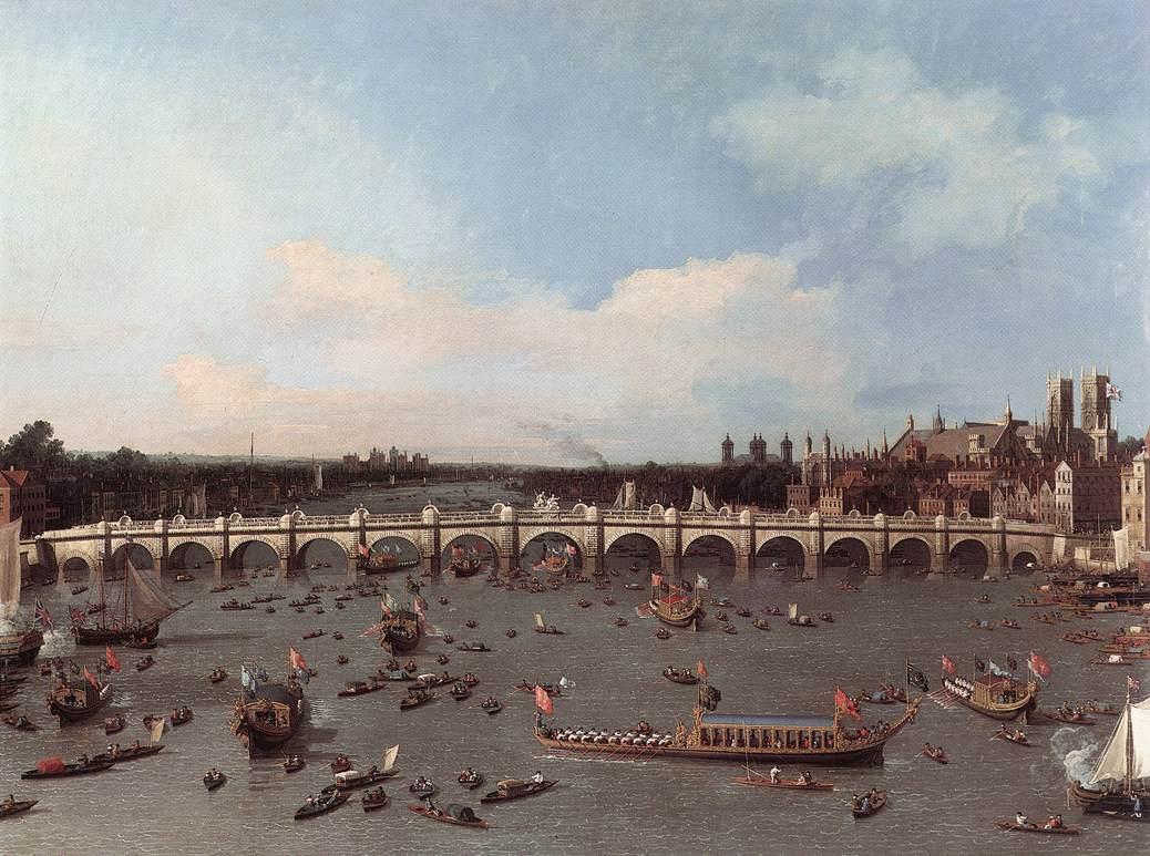 Arhitektura koja spaja ljude - Mostovi Westminster-bridge-from-the-north-on-lord-mayor-s-day-1746