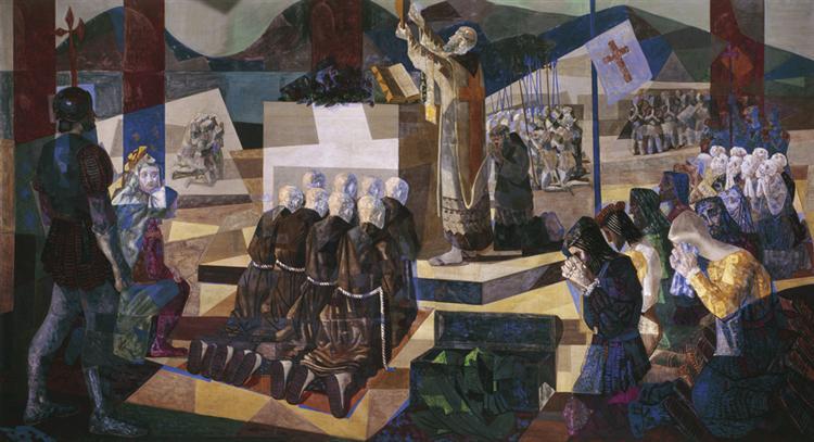 A primeira missa no Brasil, 1948 - Candido Portinari