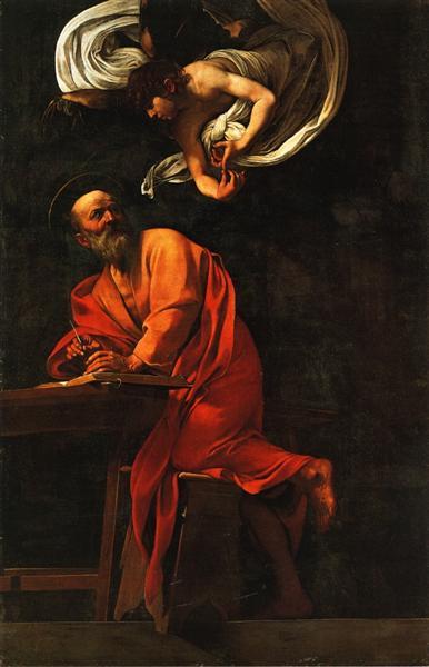 Inspiration of Saint Matthew, 1602 - Caravaggio