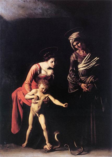 Madonna and Child with St. Anne, 1606 - Caravaggio