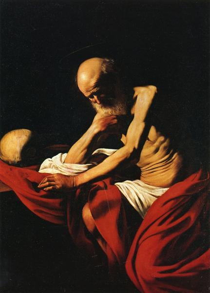 Saint Jerome in Meditation, c.1606 - Caravaggio