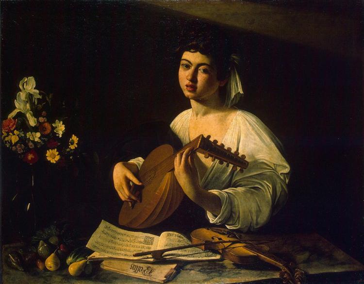 The Lute Player, c.1596 - Michelangelo Merisi da Caravaggio