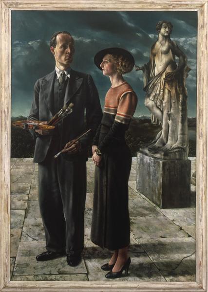 Self-Portrait with Wilma van der Meulen, 1934 - Carel Willink