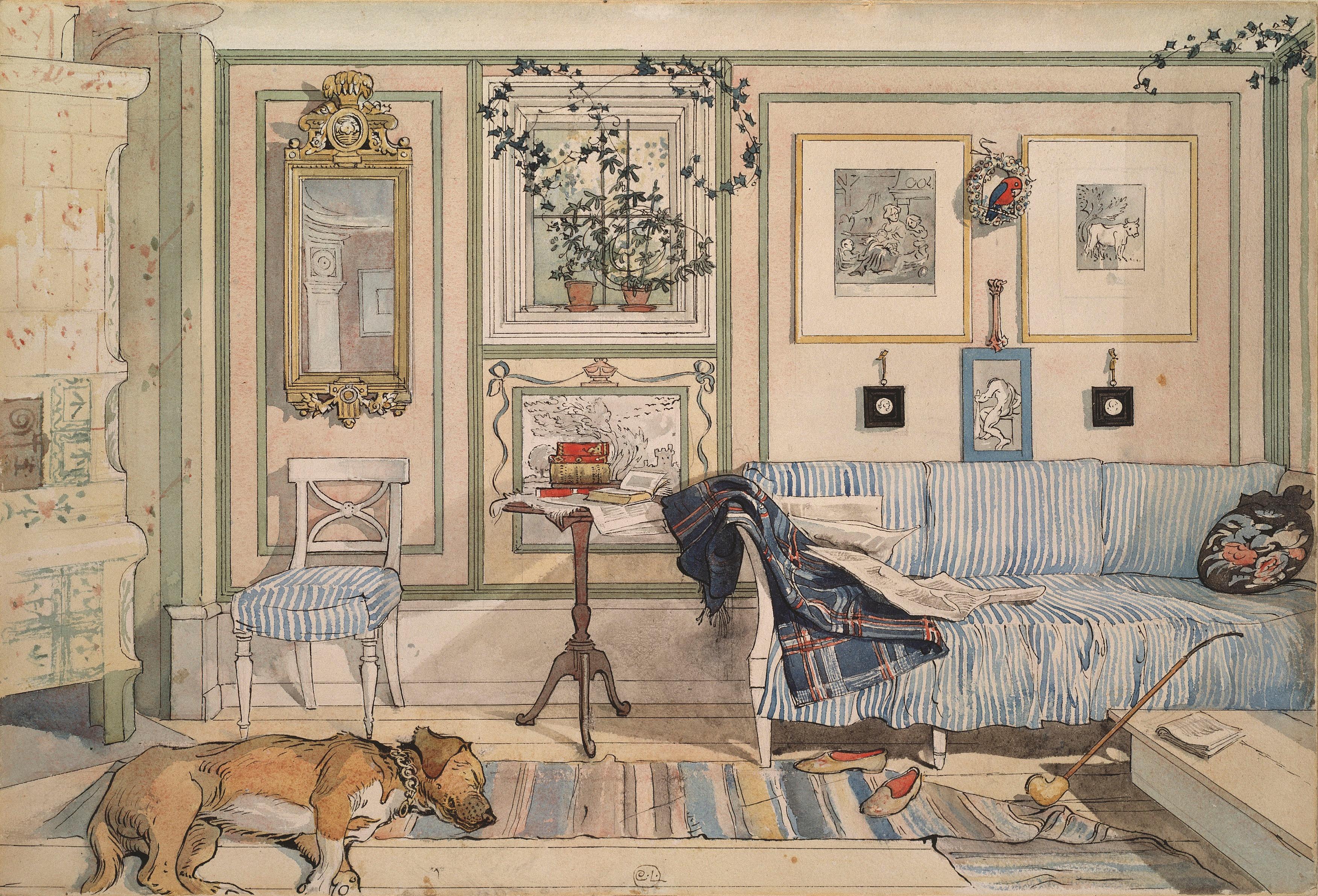 Cosy corner 1894 carl larsson for Hem arredamento