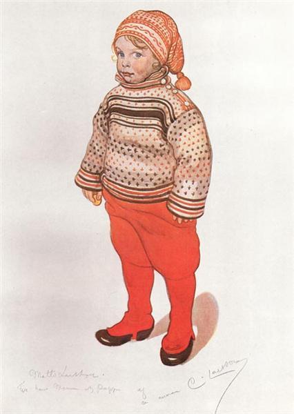 Lille Matts Larsson, 1912 - Carl Larsson