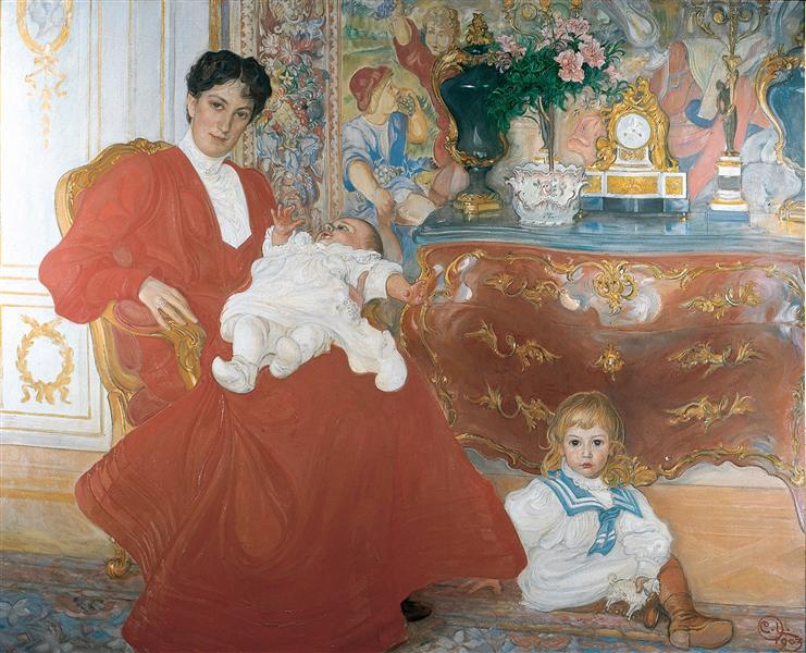 Mrs Dora Lamm and Her Two Eldest Sons, 1903 - Carl Larsson