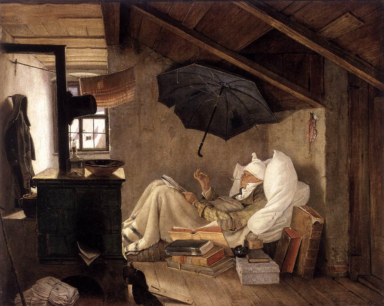 The poor poet 1837 carl spitzweg wikiart org