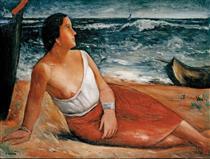 Donna sulla spiaggia - Carlo Carra