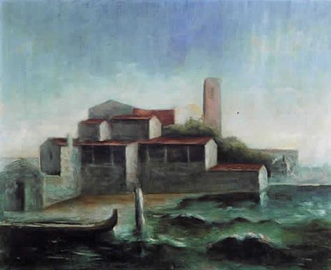 Lo squero di San Trovaso, 1938 - Carlo Carra