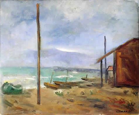 Pioggia al mare, 1929 - Carlo Carra
