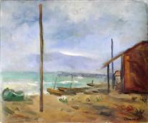 Pioggia al mare - Carlo Carra
