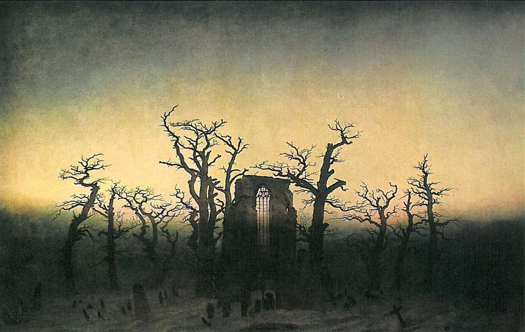Abbey in the oak forest, 1810 - Caspar David Friedrich