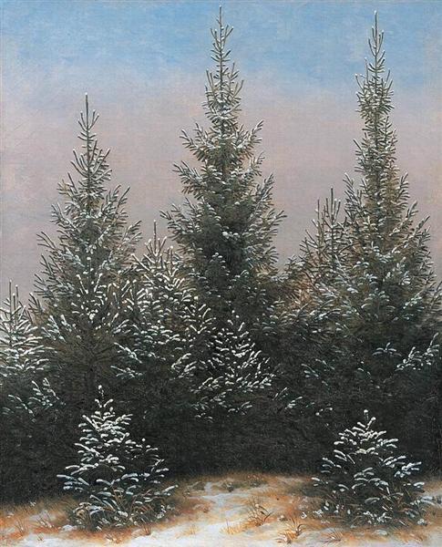 Fir Trees in the Snow, 1828 - Caspar David Friedrich