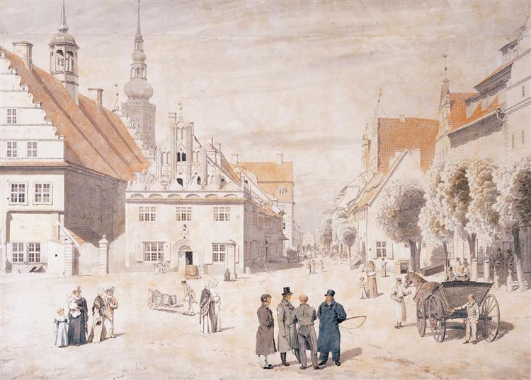 Greifswald market, 1818 - Caspar David Friedrich
