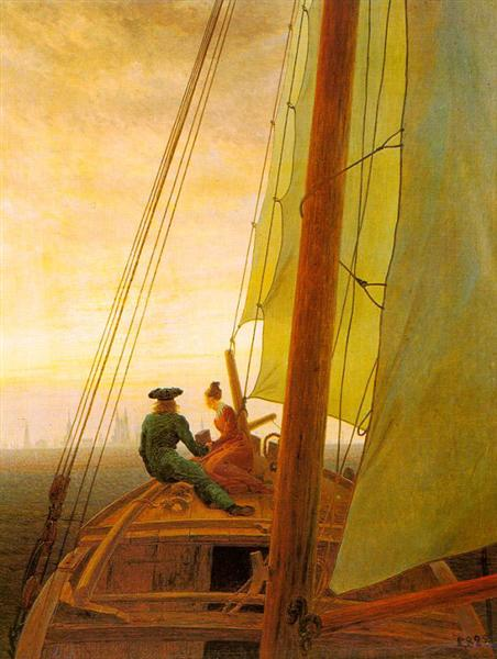 On board of a Sailing Ship, 1818 - 1820 - Caspar David Friedrich