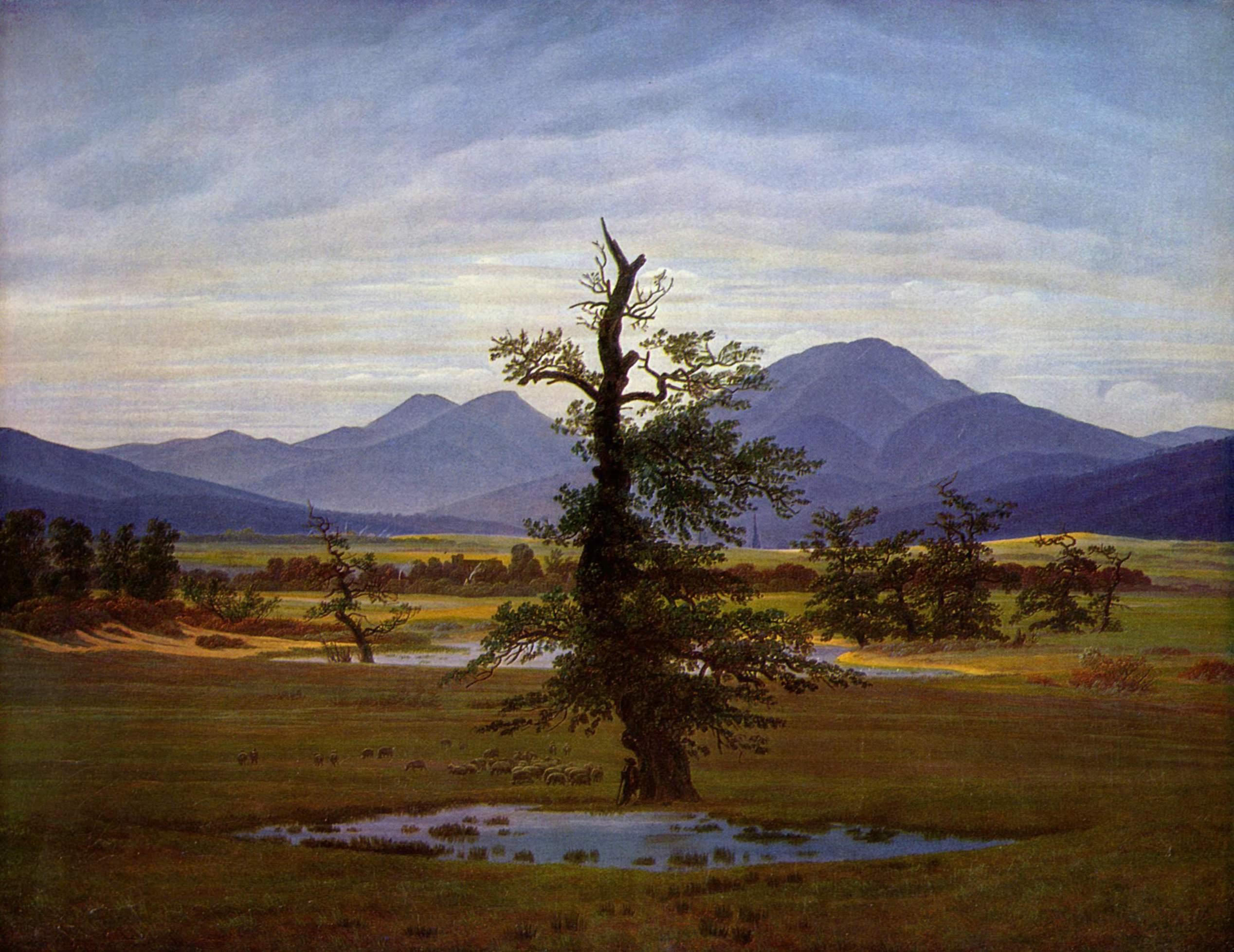 Solitary Tree, 1822 - Caspar David Friedrich - WikiArt.org