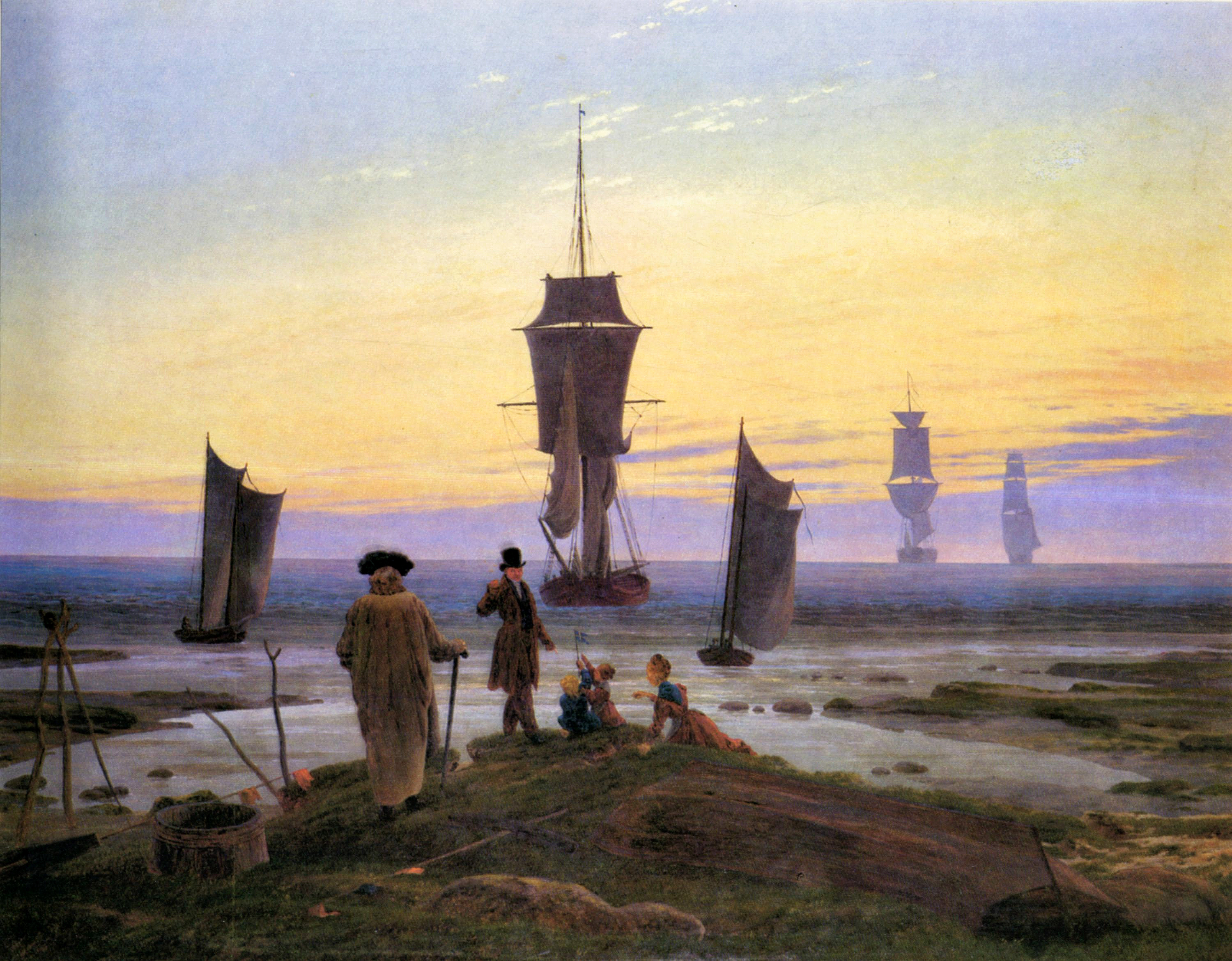 the stages of life 1835 caspar david friedrich. Black Bedroom Furniture Sets. Home Design Ideas