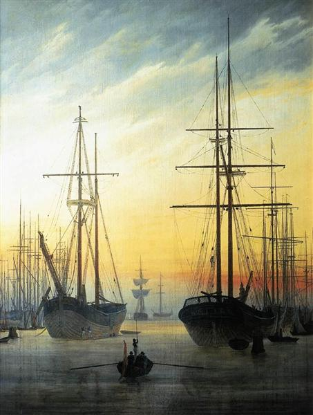 View of a harbour, 1814 - Caspar David Friedrich