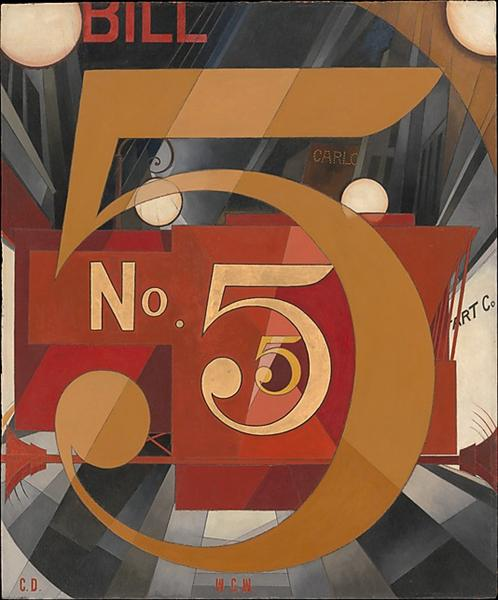 I Saw the Figure 5 in Gold (William Carlos Williams), 1928 - Charles Demuth