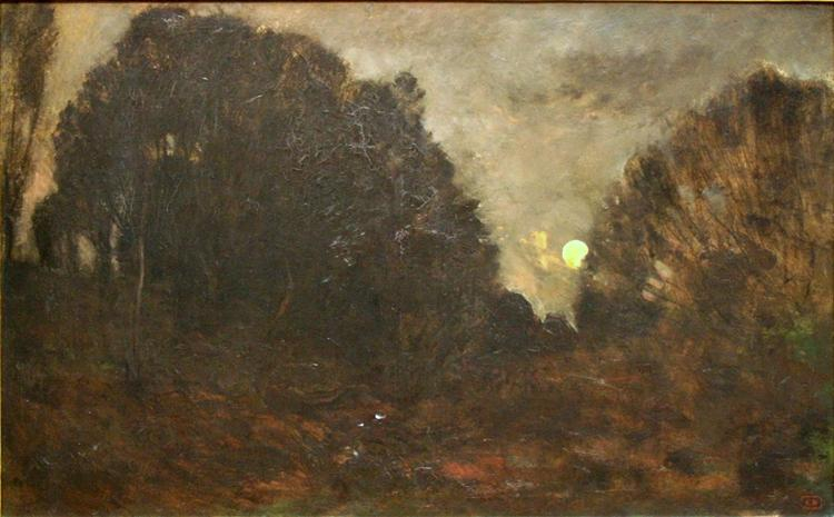 Rising Moon in Barbizon - Charles-Francois Daubigny
