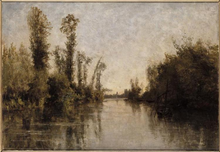 The banks of Seine, 1851 - Charles-François Daubigny