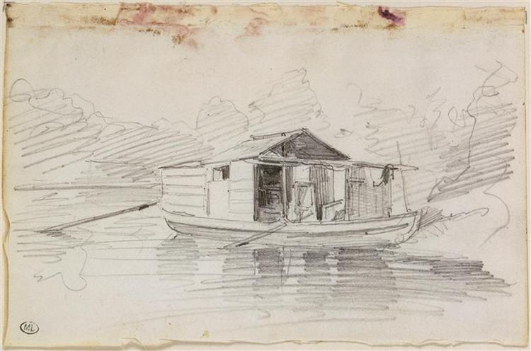The Botin, 1855 - Charles-Francois Daubigny