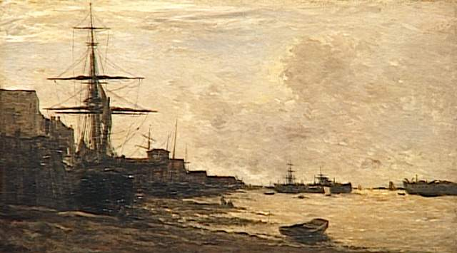 The Themse in Erith, 1866 - Шарль-Франсуа Добиньї