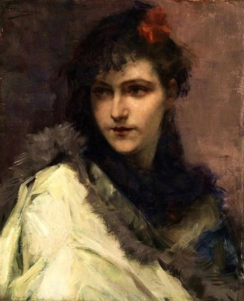 Portrait of a young Lady - Charles Hermans