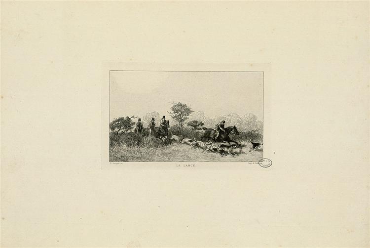Le lancé - Charles Jacque