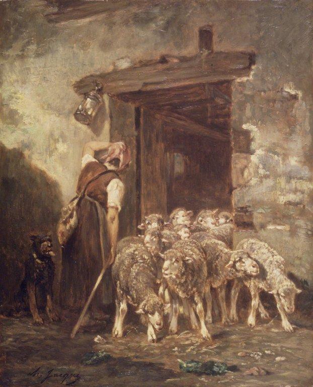 Leaving the Sheep Pen, 1889