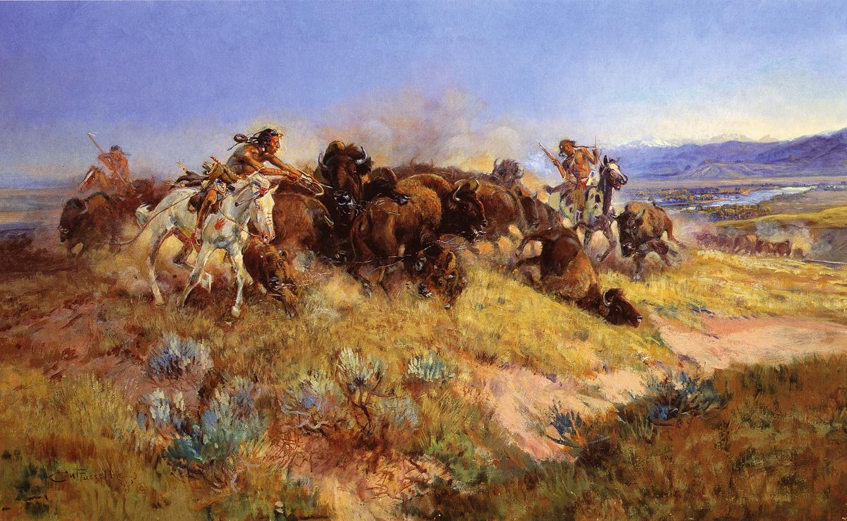 Buffalo Hunt No 40 1919 Charles M Russell Wikiart Org