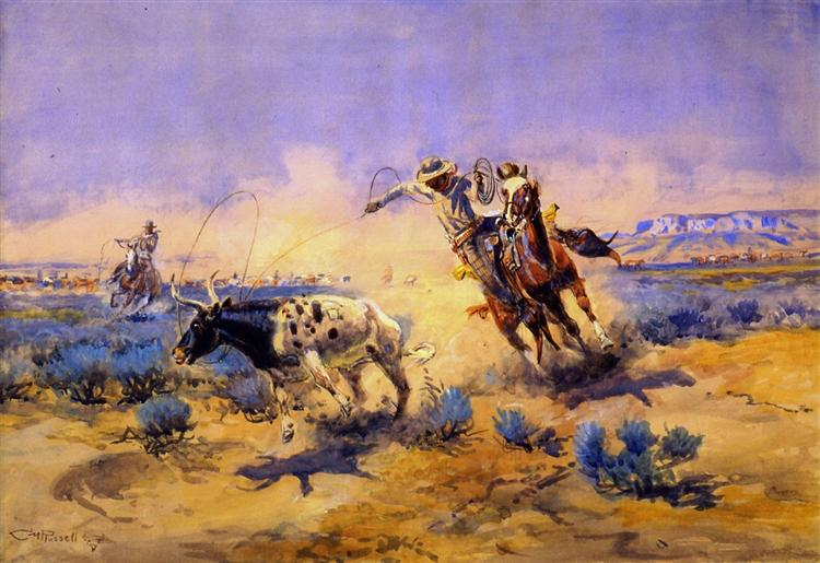 Cowboys from the Quarter Circle Box, 1925 - Charles M. Russell