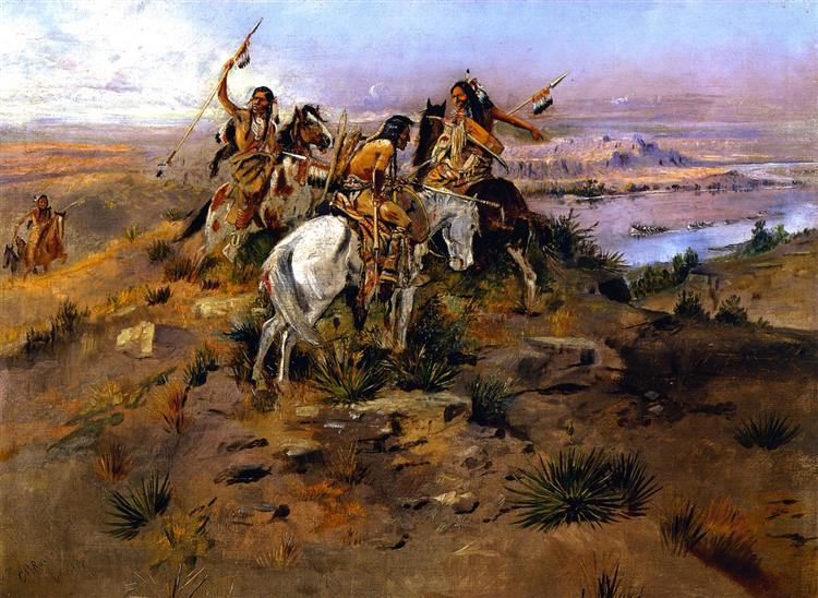 Indians Discovering Lewis and Clark, 1896 - Charles M. Russell