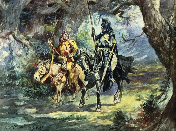 Knight and Jester, 1896 - Charles M. Russell