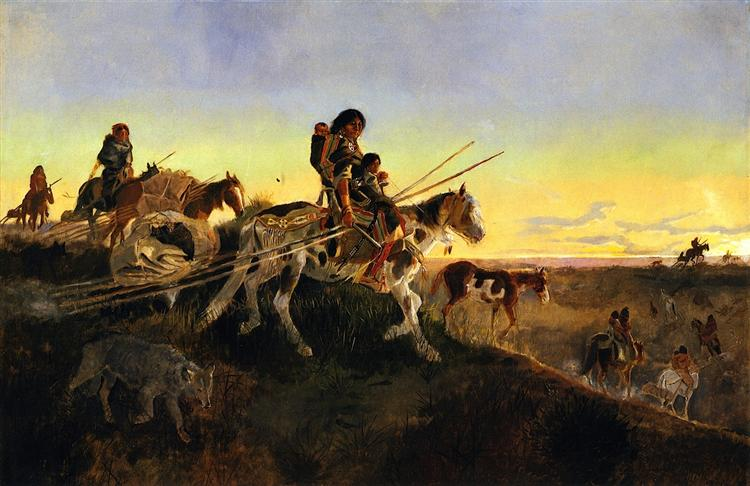 Seeking New Hunting Ground, 1891 - Charles M. Russell