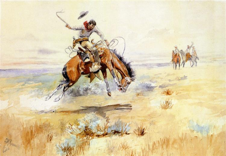 The Bronco Buster, 1894 - Charles M. Russell