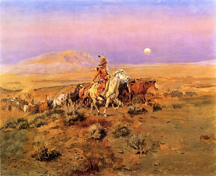 The Horse Thieves, 1901 - Charles Marion Russell
