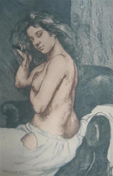 Female Nude - Charles Maurin