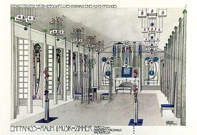 Music Room, 1901 - Charles Rennie Mackintosh