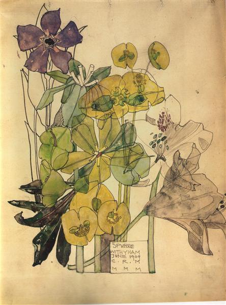 Spurge With Yham 1909 - Charles Rennie Mackintosh