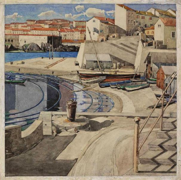 The Little Bay, Port Vendres - Charles Rennie Mackintosh
