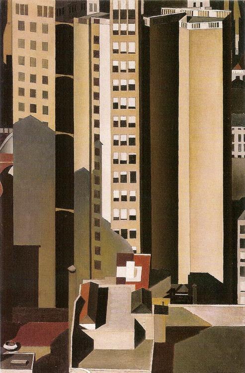 Skyscrapers 1922 Charles Sheeler Wikiart Org