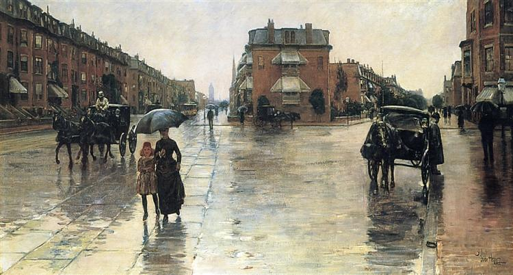 A Rainy Day in Boston, 1885 - Childe Hassam