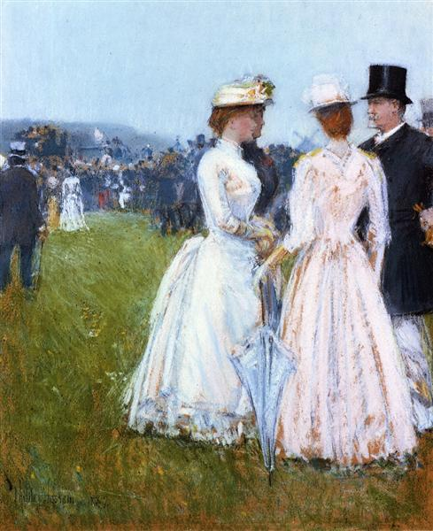 At the Grand Prix, 1887 - Childe Hassam