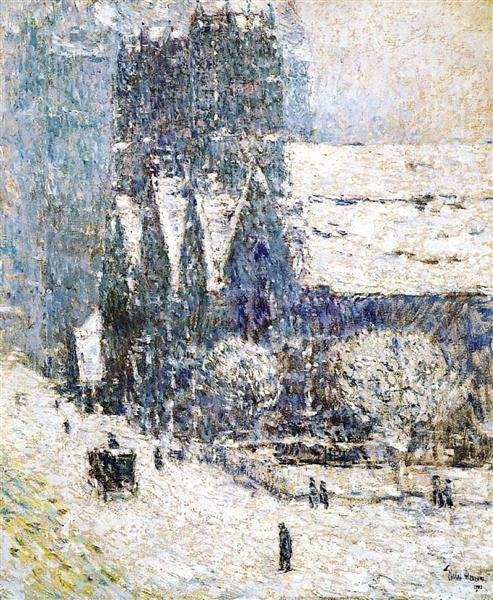 Calvary Church in the Snow, 1893 - Childe Hassam