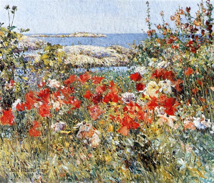 Celia Thaxter's Garden, Isles of Shoals, Maine, 1890 - Childe Hassam
