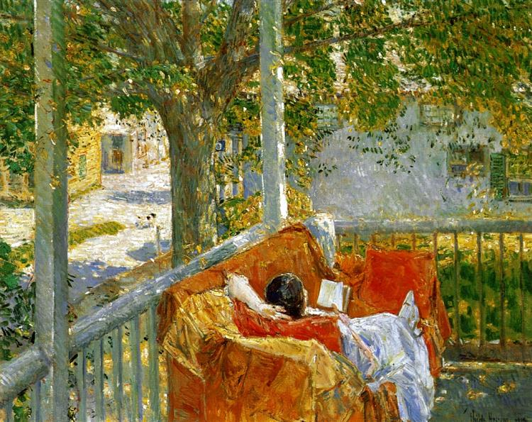 Couch on the Porch, Cos Cob, 1914 - Childe Hassam