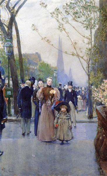 Fifth Avenue (aka Sunday on Fifth Avenue), 1890 - 1891 - Childe Hassam